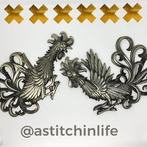 Japanese Metal Rooster Wall Decor